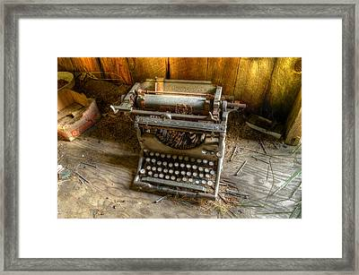 Underwood Typewriter No. 5 Framed Print