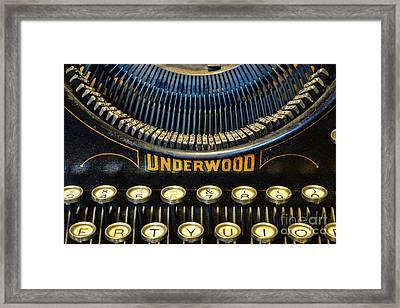 Underwood Typewriter Framed Print by Paul Ward