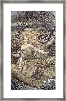 Undine Framed Print by Arthur Rackham