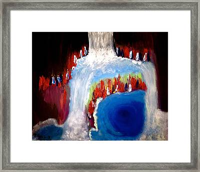 Undiscovered Paradise Framed Print by Pretchill Smith