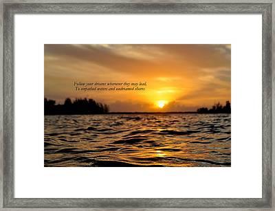Undreamed Shores Framed Print by Dennis Stanton