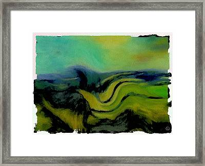 Undulating Green Framed Print by Gun Legler