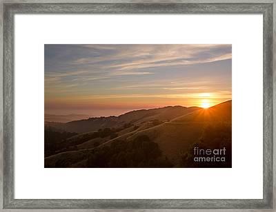 Undulating Hillsides Framed Print by Matt Tilghman