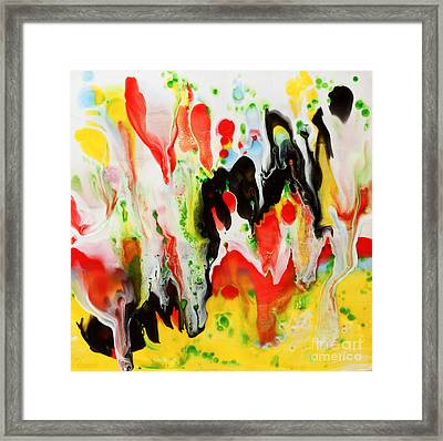 Undulation Encaustic Framed Print