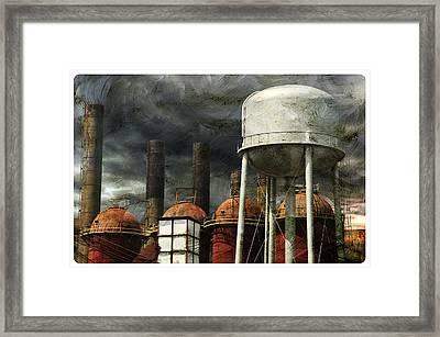 Uneasy Day Framed Print by Davina Washington