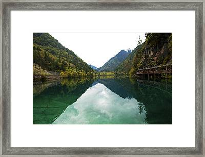 Unesco Landscpe Photostories Of Tibet Jiuzhaigou Framed Print by Sundeep Bhardwaj Kullu sundeepkulluDOTcom