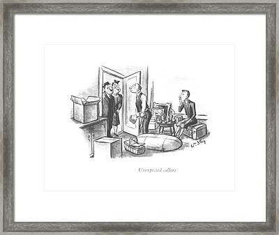 Unexpected Callers Framed Print
