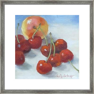 Framed Print featuring the painting Unexpected Company by Cheri Wollenberg
