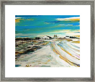 Unexpected Dusting Sutton Ma Framed Print