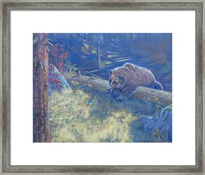 Unexpected Friends Framed Print by Charles Smith