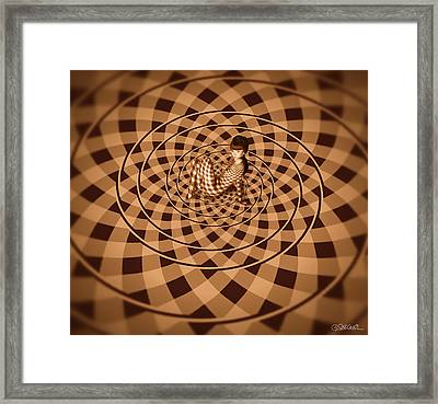 Unexpected Vortex Of Love Framed Print