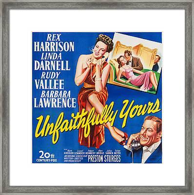 Unfaithfully Yours, Us Poster Framed Print