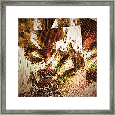 Unfinished Business Abstract Art Framed Print by Georgiana Romanovna