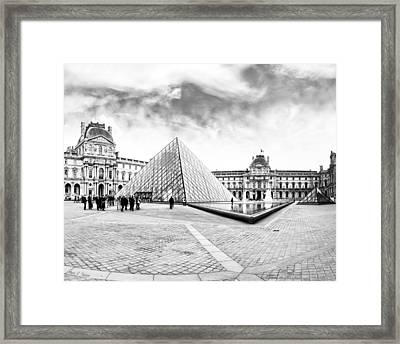 Unforgettable Architecture Of The Louvre - Paris Framed Print