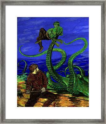 Unhappy Sailor Framed Print by Jason Edwards