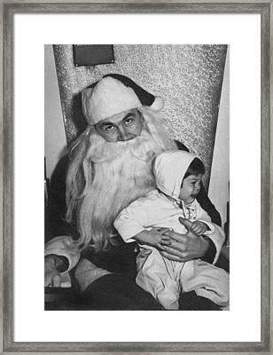 Unhappy Santa Claus Framed Print by Underwood Archives
