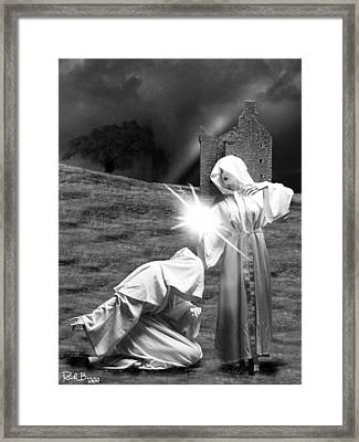 Unholy Monks Framed Print by Rick Buggy