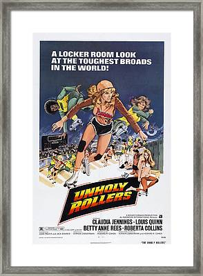 Unholy Rollers, Us Poster Art, Claudia Framed Print by Everett