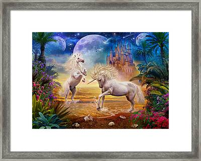 Unicorn Beach Framed Print