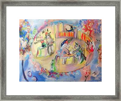 Unicorn Cafe Framed Print