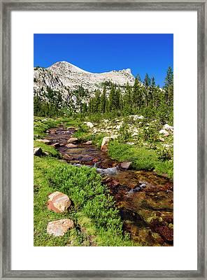 Unicorn Creek Under Unicorn Peak Framed Print