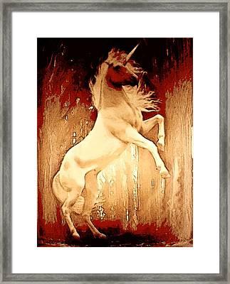 Unicorn Framed Print by David Alvarez