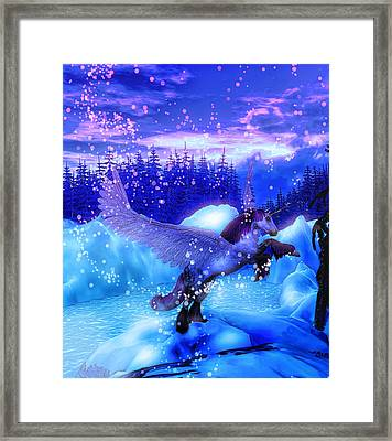 Unicorn Framed Print by David Mckinney