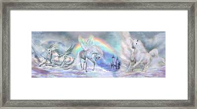 Unicorn Dreams Framed Print by Carol Cavalaris