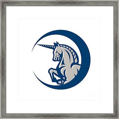 Unicorn Horse Prancing Side Framed Print by Aloysius Patrimonio