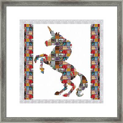 Unicorn Horse Showcasing Navinjoshi Gallery Art Icons Buy Faa Products Or Download For Self Printing Framed Print by Navin Joshi