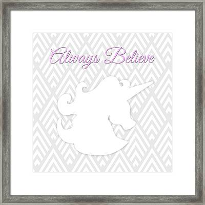 Unicorn I Framed Print