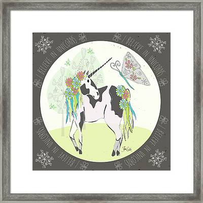 Unicorn II Framed Print by Shanni Welsh