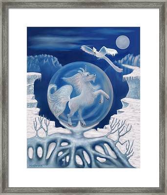 Unicorn In A Bubble Framed Print