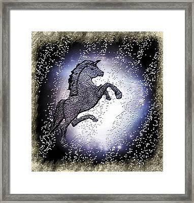 Unicorn Magic Art Framed Print by Sherry Gombert