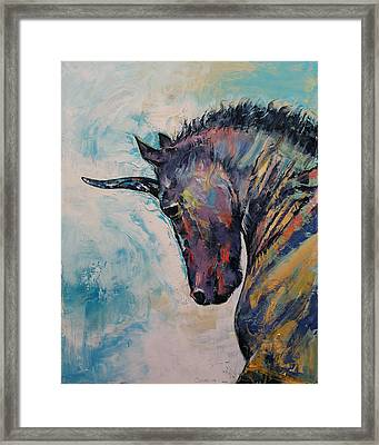 Dark Unicorn Framed Print