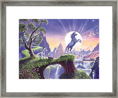 Unicorn Moon Framed Print