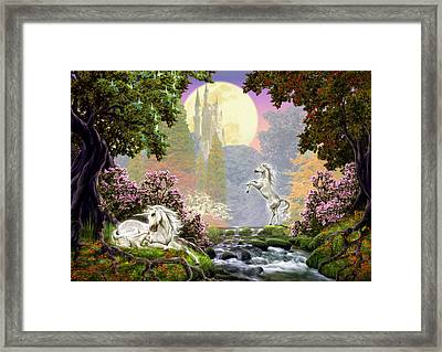 Unicorn New Born Framed Print by Garry Walton