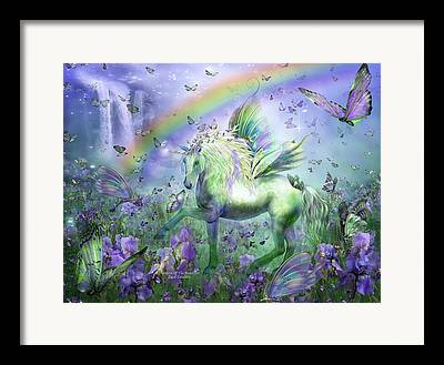 Rainbow Fantasy Art Giclee Framed Prints