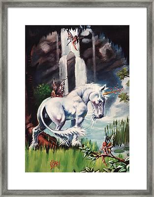 Unicorn Spring Framed Print by T Ezell