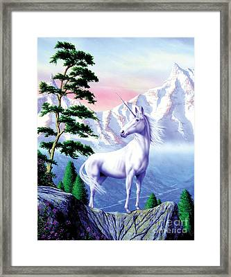 Unicorn The Land That Time Forgot Framed Print