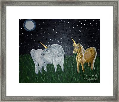 Unicorns For Julie Framed Print by Cassandra Buckley