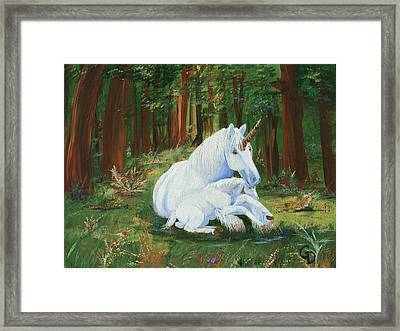 Unicorns Lap Framed Print
