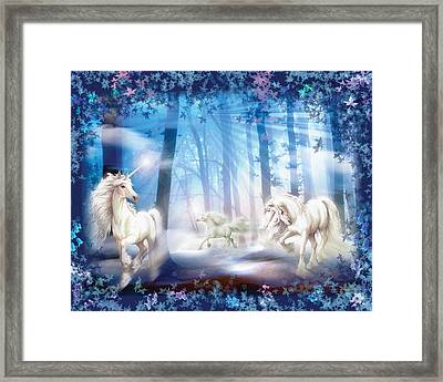 Unicorns Framed Print by Zorina Baldescu