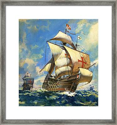 Unidentified Sailing Ships Framed Print by Andrew Howat
