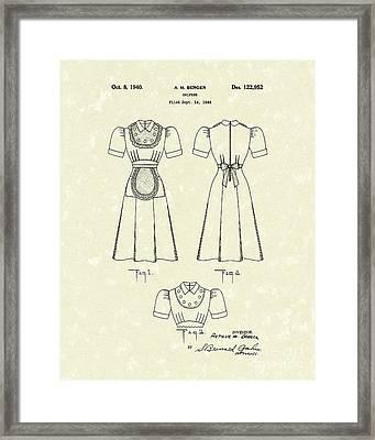 Uniform 1940 Patent Art Framed Print