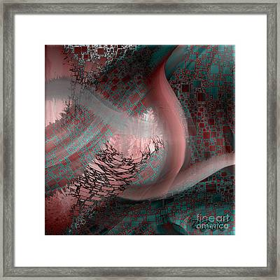 Framed Print featuring the digital art Uninabitated Life - Abstract Art By Giada Rossi by Giada Rossi