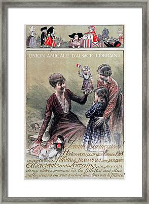 Union Amicale Dalsace Lorraine, 1918 Framed Print