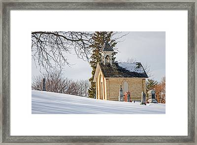 Union Cemetery Chapel Framed Print