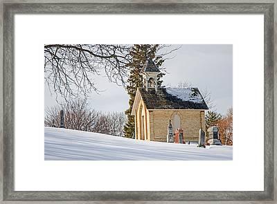 Union Cemetery Chapel Framed Print by Susan  McMenamin