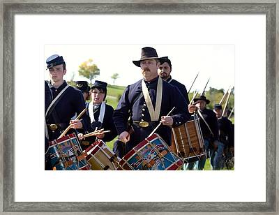 Union Drum Corps Perryville Ky Framed Print by Thia Stover